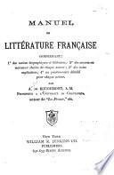 Manuel de Litt  rature Fran  aise