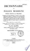 Dictionnaire de Police Moderne Pour Toute La France