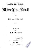 Handels- und Gewerbe-Adressen-Buch für Oesterreich ob der Enns