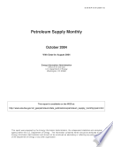 Petroleum Supply Monthly  October 2004  With Data for August 2004