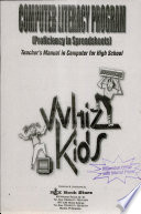 Whizkids Spreadsheets Ii Tm' 2002 Millennium Ed. Free download PDF and Read online