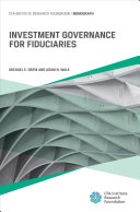 Investment Governance for Fiduciaries Book