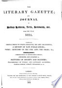 The London Literary Gazette and Journal of Belles Lettres  Arts  Sciences  Etc