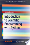 Introduction To Scientific Programming With Python