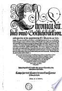 Chronica Zeitbuch vnnd Geschichtbibell von anbegyn bis in dis gegenwertig M. D. xxxvi. iar verlengt