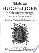 Klucht van Buchelioen t Kaboutermannetge  etc   In verse