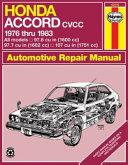 Honda Accord CVCC  1976 1983