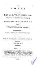 The Works of of the Rev  Jonathan Swift