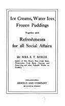 Ice Creams Water Ices Frozen Puddings Together With Refreshments For All Social Affairs