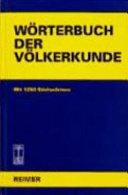 Wörterbuch der Völkerkunde