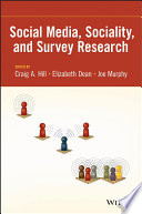 Social Media  Sociality  and Survey Research