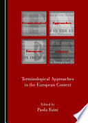 Terminological Approaches In The European Context