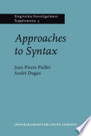 Approaches to Syntax