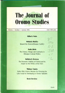 The Journal of Oromo Studies