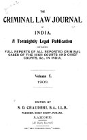 the criminal law journal of india