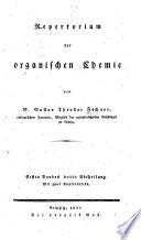 Repertorium der organischen Chemie