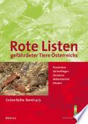Rote Listen gefährdeter Tiere Österreichs