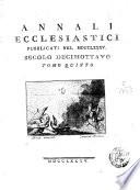 Annali ecclesiastici secolo decimottavo