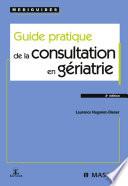 illustration du livre Guide pratique de la consultation en gériatrie
