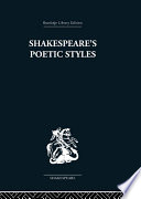 Shakespeare s Poetic Styles