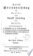 Tydsk Stiiløvelsebog for Danske