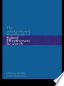 The International Handbook of School Effectiveness Research