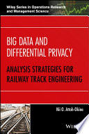 Ebook Big Data and Differential Privacy Epub Nii O. Attoh-Okine Apps Read Mobile
