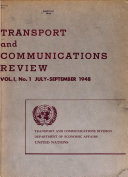 Transport and Communications Review