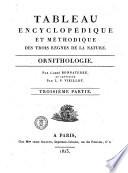 Tableau encyclop  dique et m  thodique des trois r  gnes de la Nature