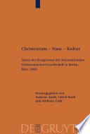 Christentum – Staat – Kultur