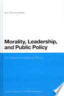Morality  Leadership  and Public Policy