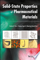 Solid State Properties of Pharmaceutical Materials