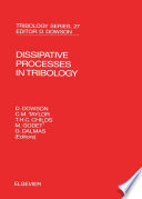 Dissipative Processes in Tribology