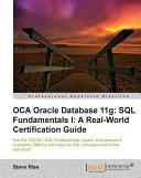 OCA Oracle Database 11g: SQL Fundamentals 1