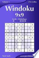illustration du livre Windoku 9x9 - Facile à Diabolique - Volume 1 - 276 Grilles