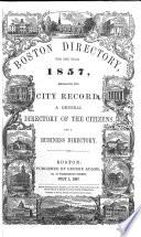 The Boston Directory