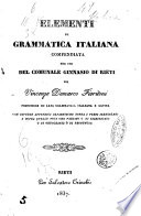Elementi di grammatica italiana compendiata per uso del comunale Ginnasio di Rieti da Vincenzo Demarco Fioritoni