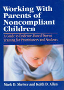 Working with Parents of Noncompliant Children