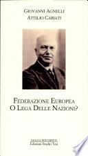 Federazione europea o lega delle nazioni