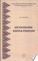 Dictionnaire kabyle fran  ais