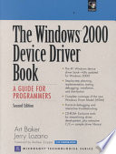 The Windows 2000 Device Driver Book
