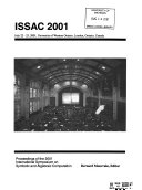 Proceedings of the     International Symposium Symbolic and Algebraic Computation