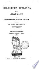 Biblioteca Italiana Aprilo 1837