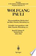 Wissenschaftlicher Briefwechsel mit Bohr, Einstein, Heisenberg u.a. / Scientific Correspondence with Bohr, Einstein, Heisenberg a.o.