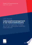 Lebenszyklusmanagement in der Automobilindustrie