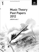 Music Theory Past Papers 2012  ABRSM Grade 1