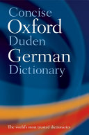Concise Oxford Duden German Dictionary