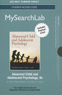 Abnormal Child and Adolescent Psychology Mysearchlab Standalone Access Card