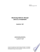 Electricity Reform Abroad and U.S. Investment