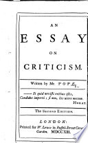 an essay on criticism synopsis